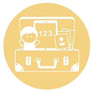Icon mit Koffer