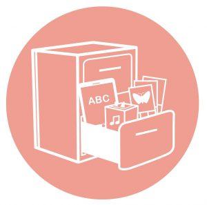 Icon mit Schrank für stationären Sprachparcours